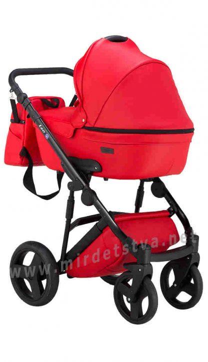Прогулочная коляска 2в1 Bair Leo GN-98 красная кожа
