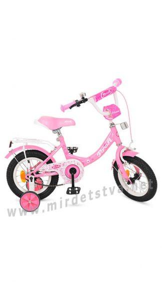 Розовый велосипед Profi 12д. Y1211 двухколесный