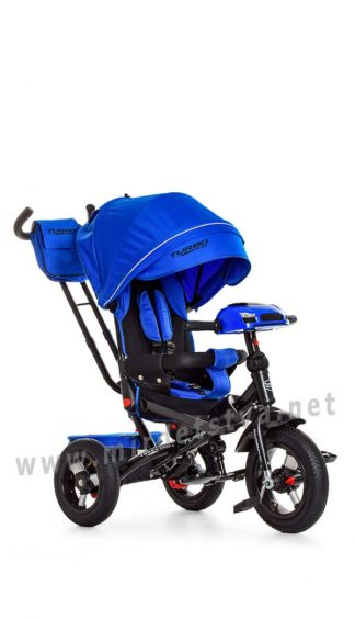 Синий велосипед Turbo Trike M 4060-10 трехколесный