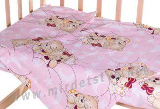 Сменный постельный комплект в кроватку Qvatro Gold SG-03