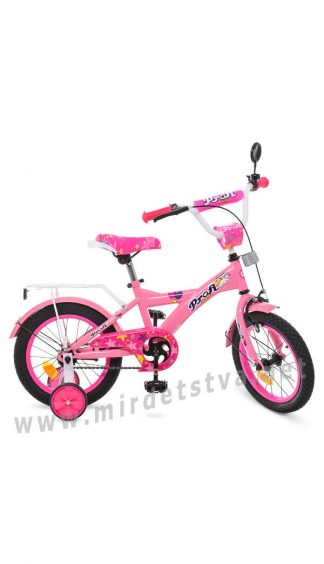 Велосипед детский с дополнительными колесами Profi T1461 14 дюймов