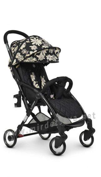 Черная прогулочная коляска книжка EL CAMINO ME 1058 Wish floral black