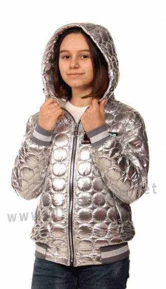 Демисезонная куртка с капюшоном девочке Nestta Bomber