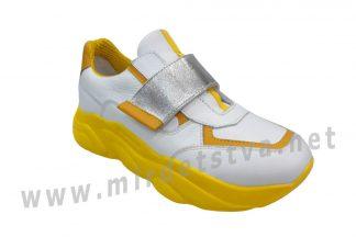 Кроссовки с желтой подошвой для девочки Bistfor 05104/237/525 (07104/237/525)
