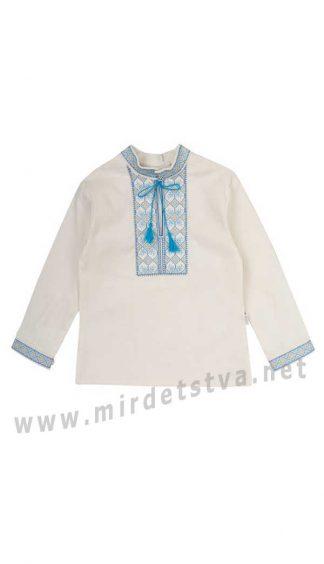 Льняная вышиванка для мальчика Бемби РБ99