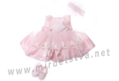 Нарядное розовое платье для девочки Bibaby 914706