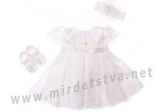 Платье для девочки Bibaby с пинетками 914701