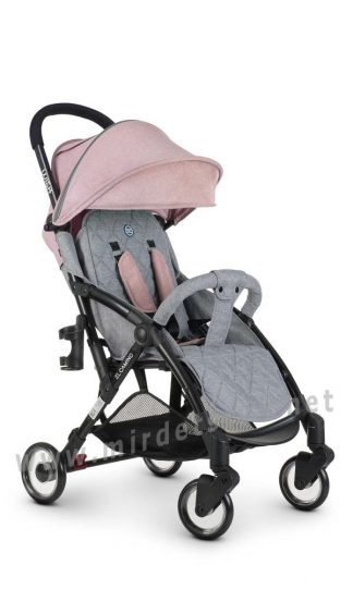 Прогулочная коляска для девочки EL CAMINO ME 1058 Wish pink gray
