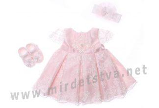 Розовое платье для девочки Bibaby 914703