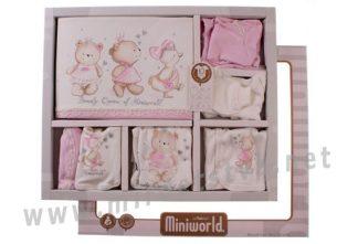 Розовый комплект для девочки Miniworld 908726
