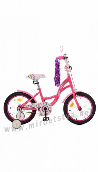 Велосипед для девочки 6 лет Profi Y1823-1 18 дюймов