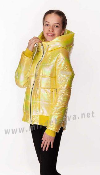 Желтая куртка демисезонная для девочки Nestta Kristy