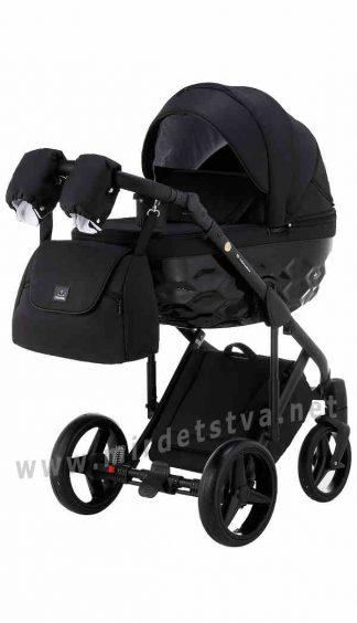 Черная прогулочная коляска Adamex Chantal C213