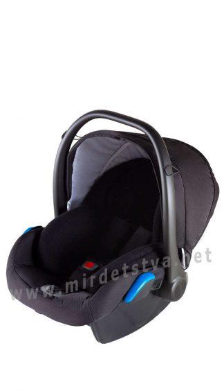 Черное автокресло для малышей Adamex Kite F49