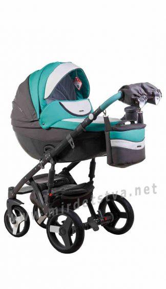 Детская коляска 2в1 Adamex Monte Deluxe Carbon D106