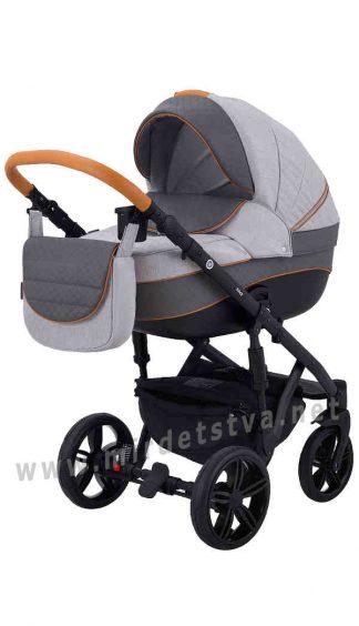 Детская коляска для прогулок Adamex Prince X-4-CZ 2в1