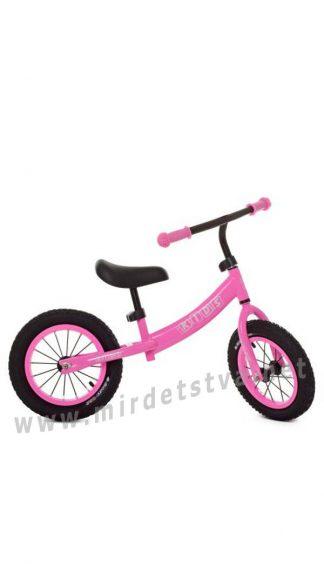 Розовый беговел 12 дюймов Profi Kids M5457A-4