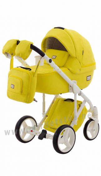 Яркая прогулочная коляска Adamex Luciano Q108/B кожа