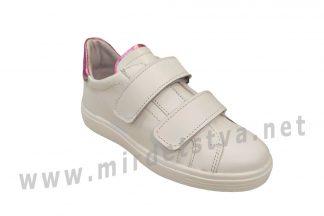 Белые кожаные кроссовки для девочки Jordan 7074