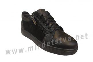 Черные кожаные кроссовки для мальчика Jordan 7045