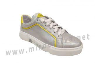 Кожаные кроссовки для девочки Jordan 7073 серебро