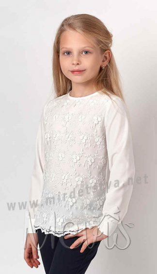 Блузка нарядная для девочки Mevis 3277-02