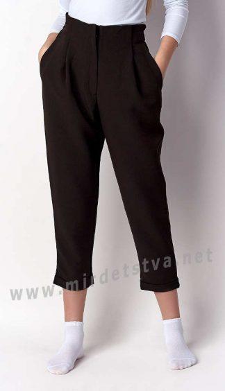 Черные брюки для девочки Mevis 3224-02
