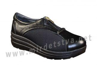 Черные ортопедические туфли 4Rest Orto 17-004