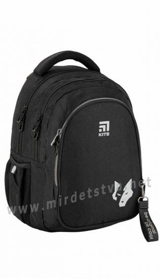 Черный ранец для школьника Kite Education K20-8001M-6