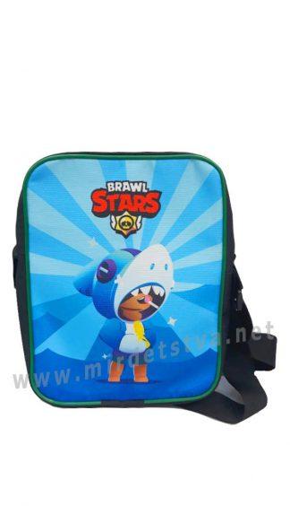 Детская сумка планшет Brawl Stars Леон Акула Blue