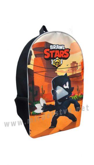 Детский рюкзак Brawl Stars Ворон Orange
