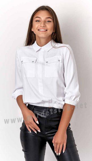 Хлопковая блузка на девочку подростка Mevis 3178-02