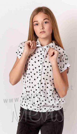 Хлопковая блузка на девочку подростка Mevis 3220-01