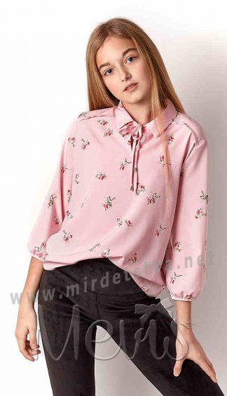 Розовая блузка для девочки Mevis 3259-01