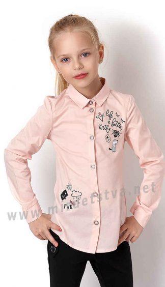 Рубашка хлопковая для девочки Mevis 3229-02