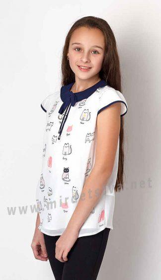Шифоновая блузка для девочки Mevis 3163-02