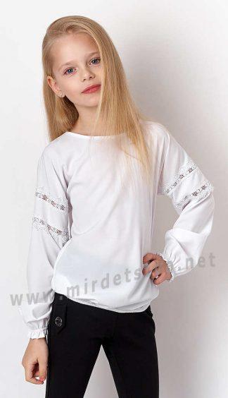 Школьная блузка с длинным рукавом Mevis 3164-01
