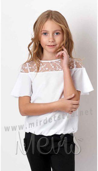 Школьная блузка с коротким рукавом Mevis 3173-01
