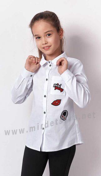 Школьная рубашка с длинным рукавом Mevis 3291-01