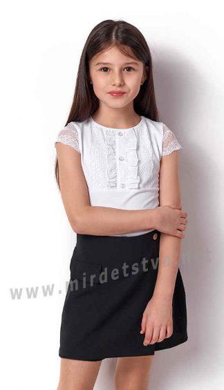 Трикотажная нарядная блузка для девочки Mevis 3340-01