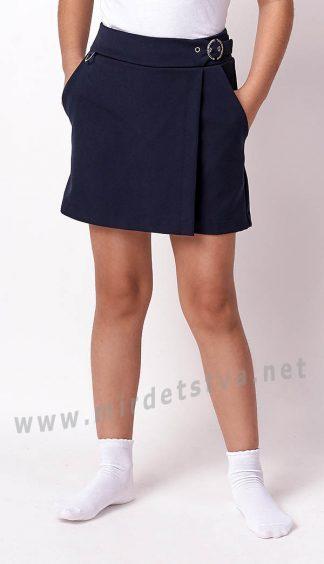 Юбка-шорты для школы 3235-01 синяя
