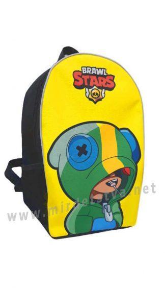 Желтый детский рюкзак Brawl Stars Леон Yellow