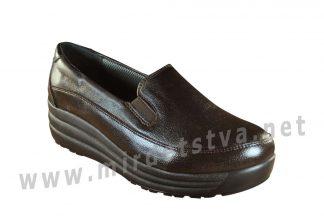 Женские ортопедические черные туфли 4Rest Orto 17-009
