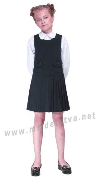 Черный детский сарафан девочке Lukas 5211