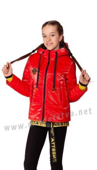 Демисезонная куртка с подтяжками для девочек Nestta Vanesa