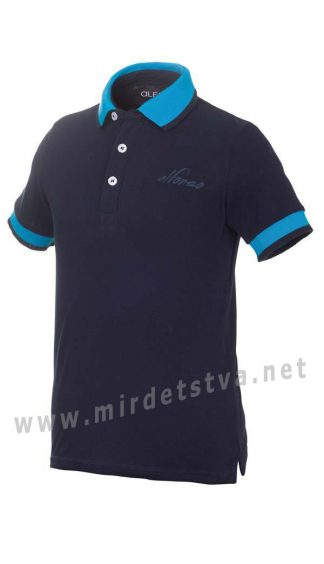 Футболка-поло для мальчика Alfonso Jastin F3 темно-синяя