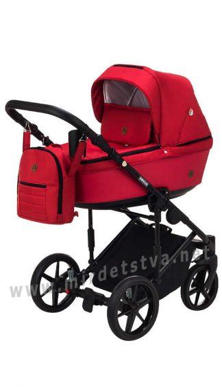 Красная детская коляска Adamex Amelia AM264
