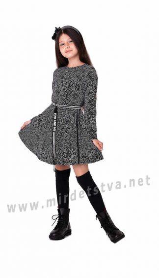 Стильное трикотажное платье в школу Mevis 3510-01