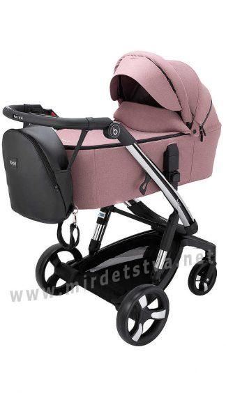 Умная коляска для девочки Bair Electra B-touch system BE-04 dark pink