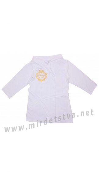 Белый махровый детский халат Valeri tex 1751-20-280-002
